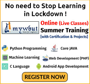 Mywbut Online Summer Training